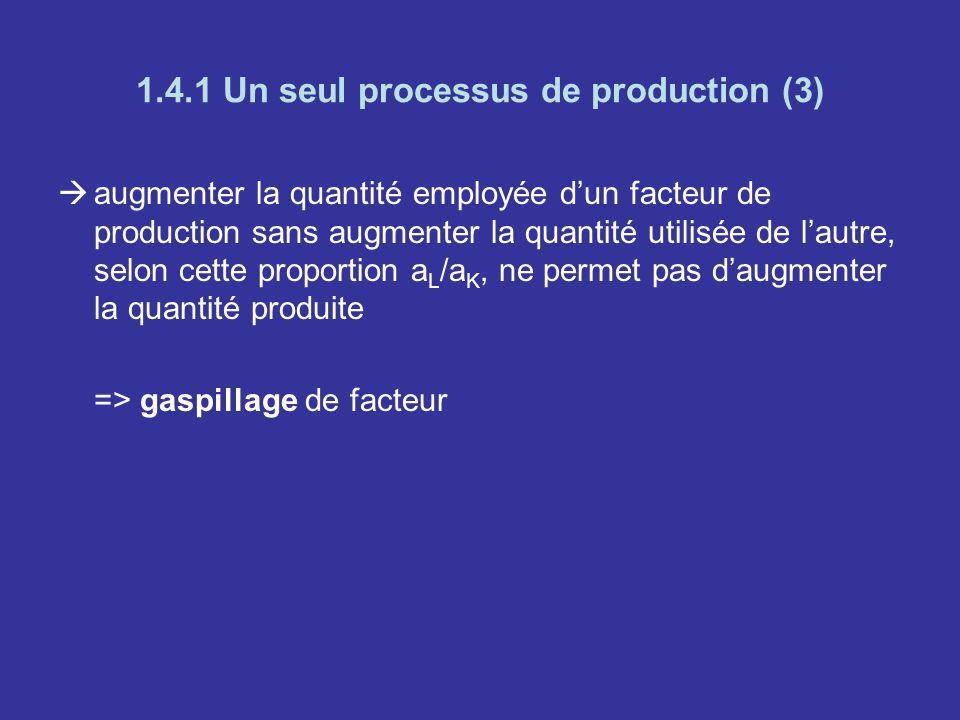 1.4.1 Un seul processus de production (3)