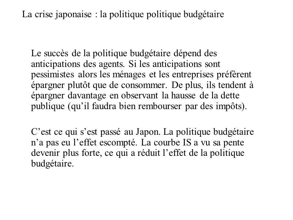 La crise japonaise : la politique politique budgétaire