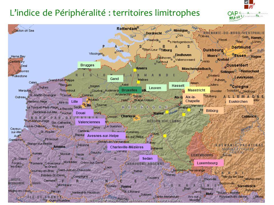 L'indice de Périphéralité : territoires limitrophes