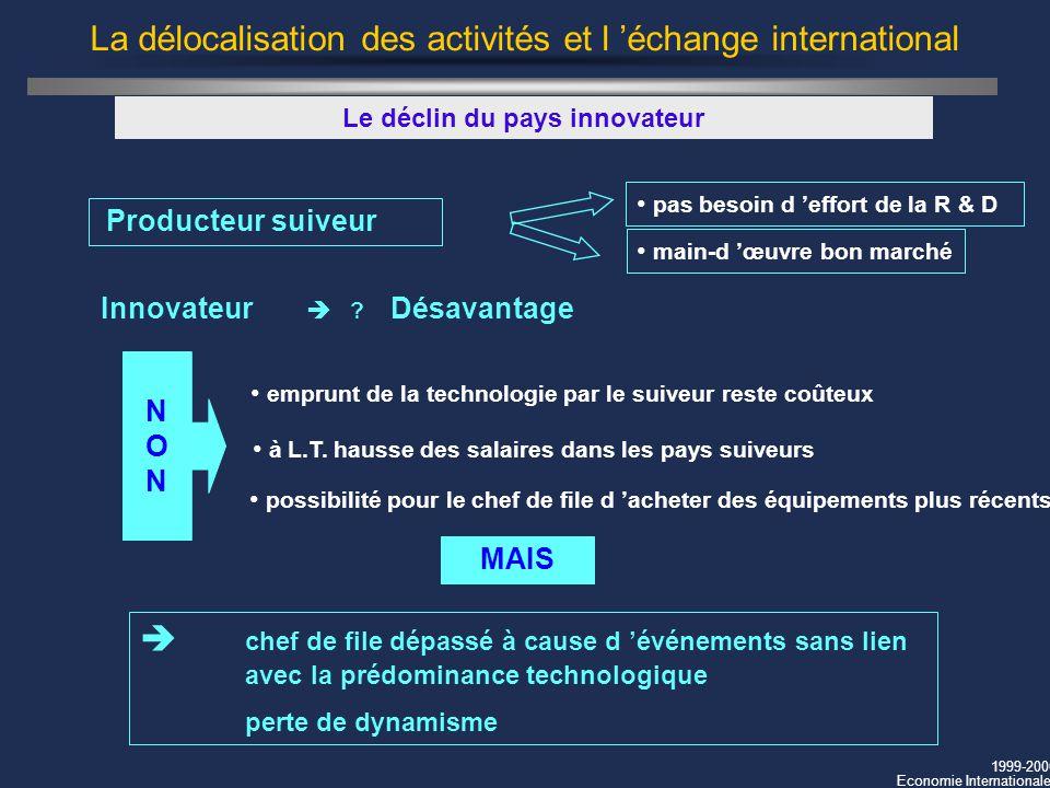 La délocalisation des activités et l 'échange international