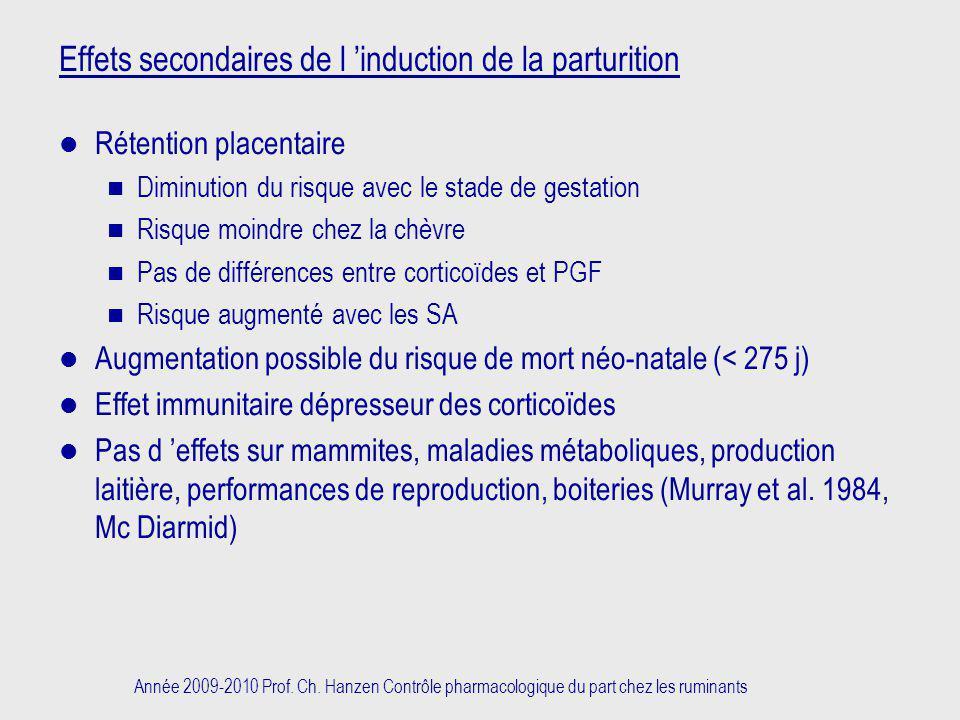 Effets secondaires de l 'induction de la parturition