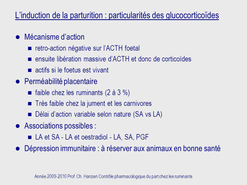 L'induction de la parturition : particularités des glucocorticoïdes