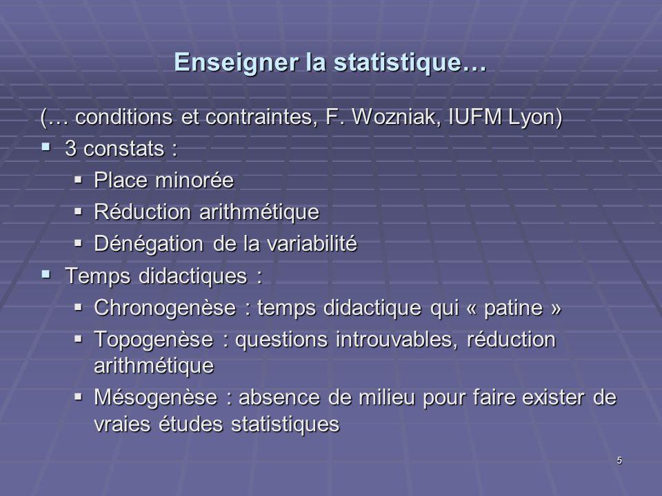 Enseigner la statistique…