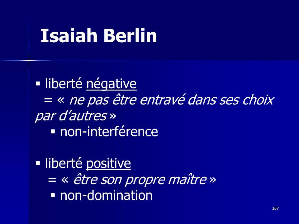 Isaiah Berlin liberté négative