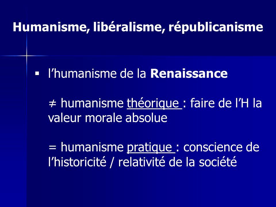 Humanisme, libéralisme, républicanisme
