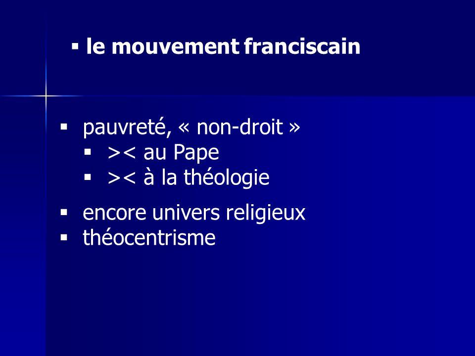 le mouvement franciscain