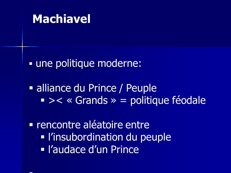 Machiavel alliance du Prince / Peuple