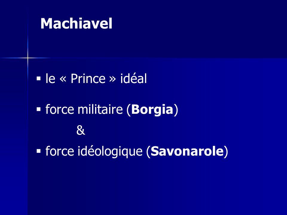 Machiavel le « Prince » idéal force militaire (Borgia) &