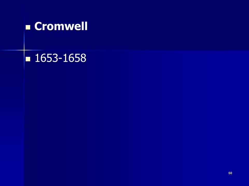 Cromwell 1653-1658