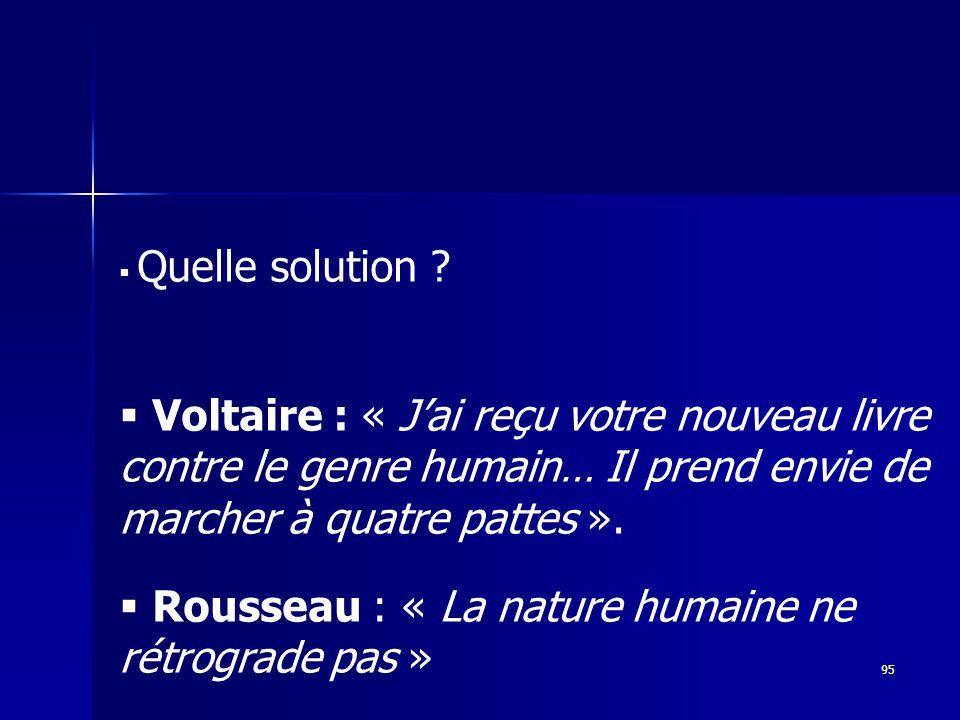 Rousseau : « La nature humaine ne rétrograde pas »