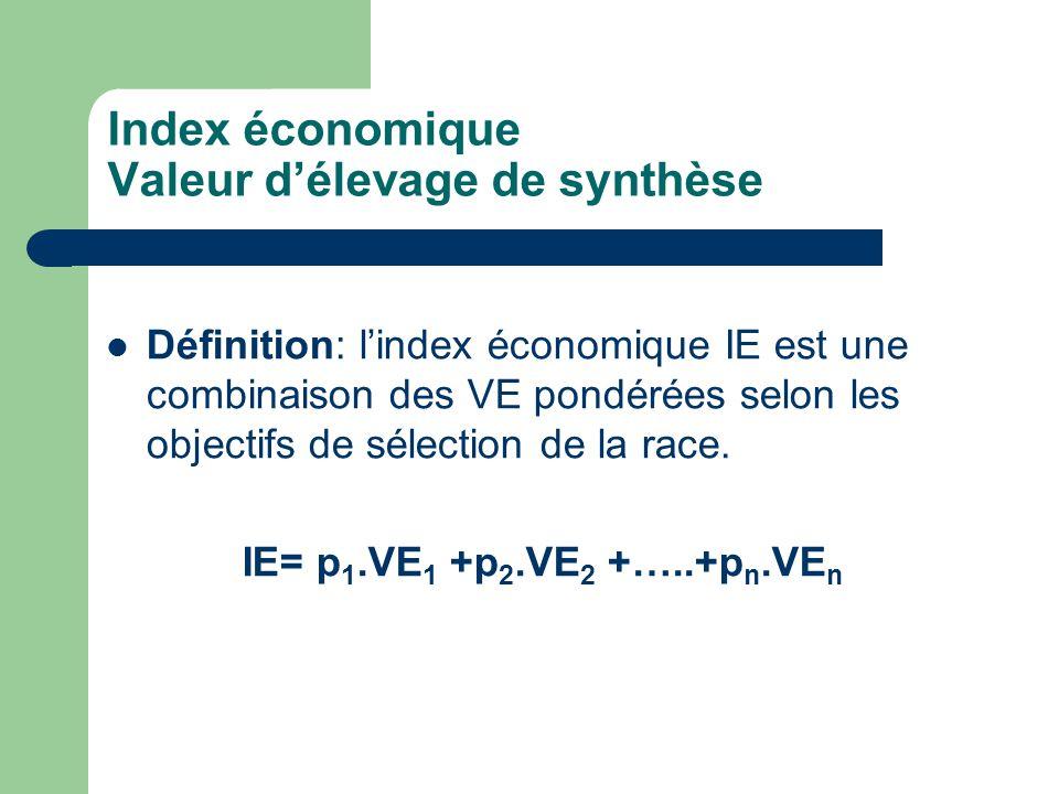 Index économique Valeur d'élevage de synthèse