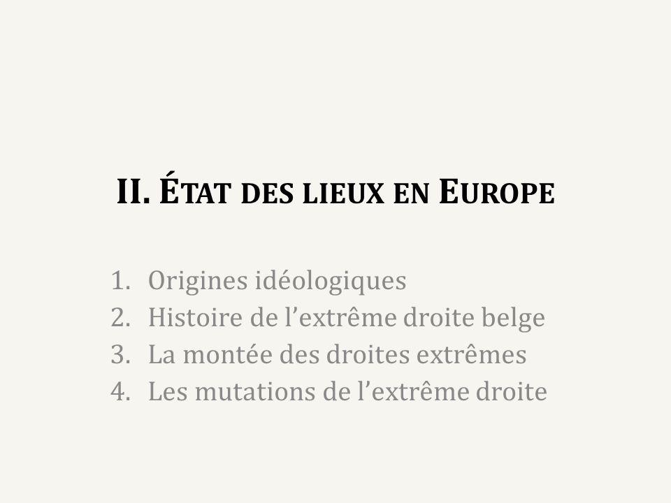 II. État des lieux en Europe