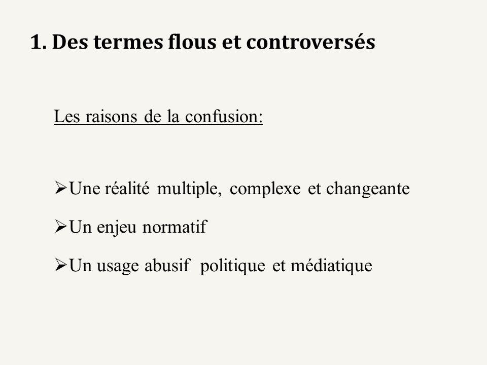 1. Des termes flous et controversés