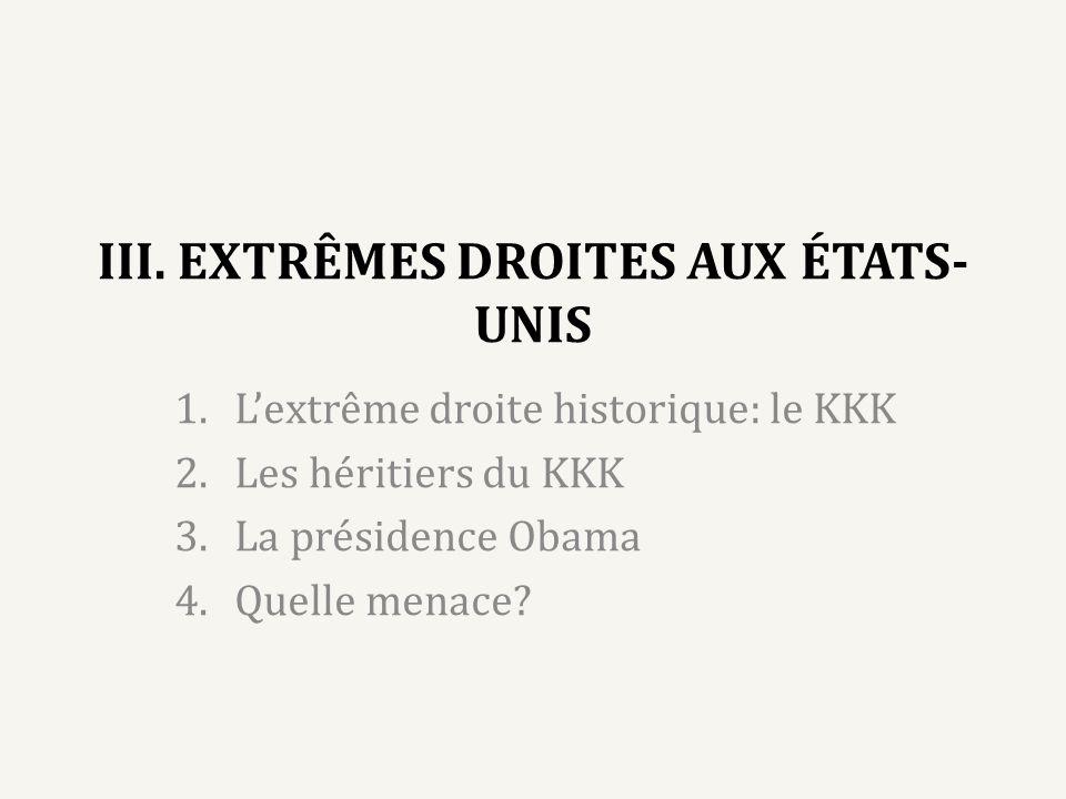 III. EXTRÊMES DROITES AUX ÉTATS-UNIS