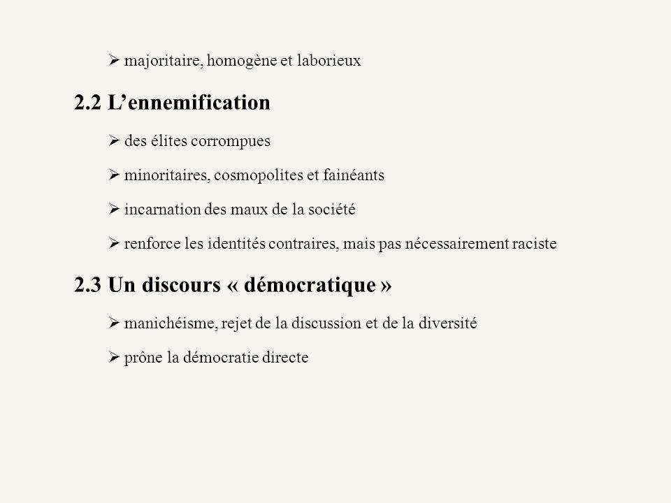 2.3 Un discours « démocratique »