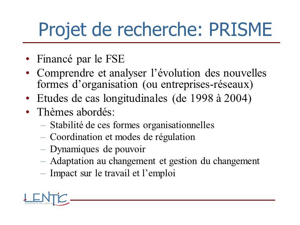 Projet de recherche: PRISME