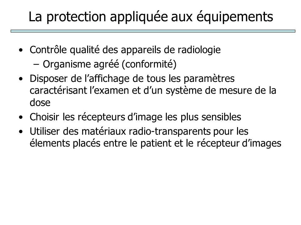 La protection appliquée aux équipements