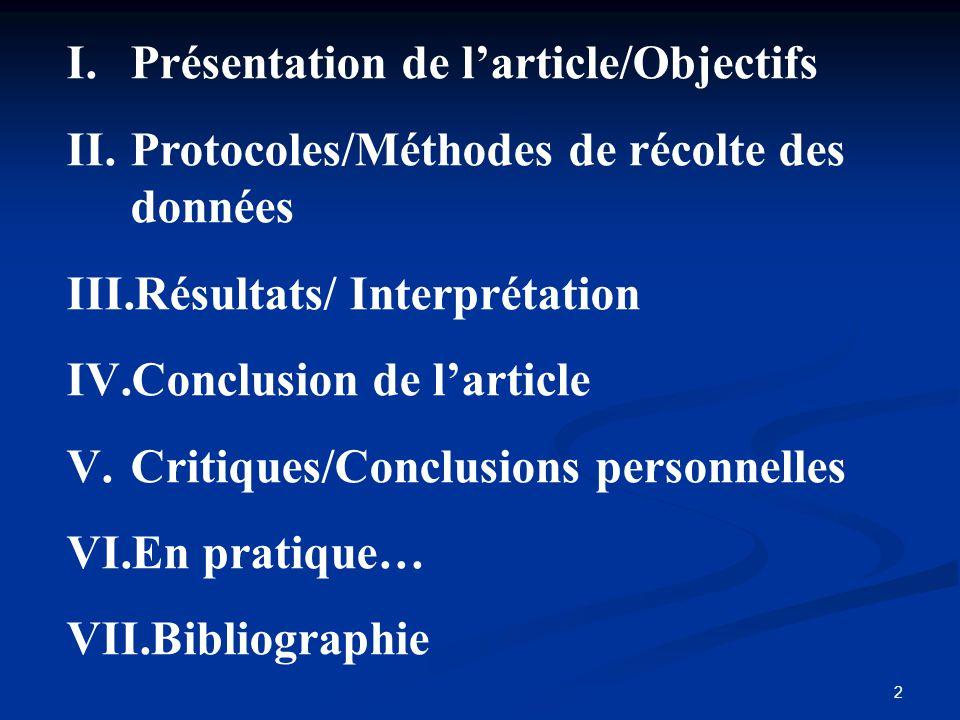 Présentation de l'article/Objectifs