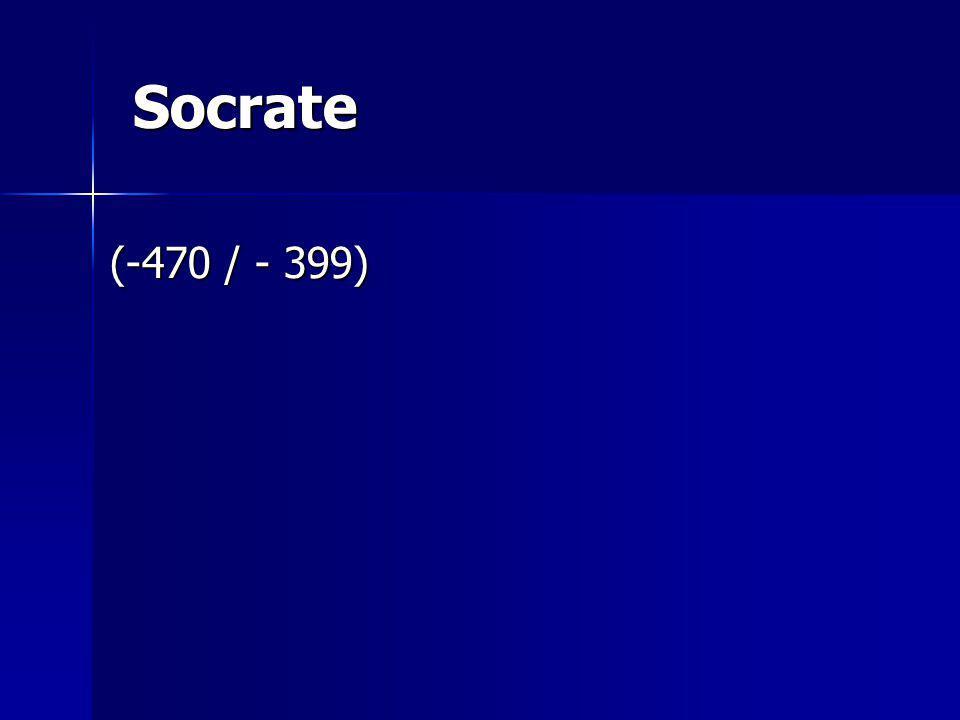 Socrate (-470 / - 399)
