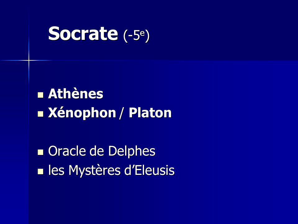 Socrate (-5e) Athènes Xénophon / Platon Oracle de Delphes