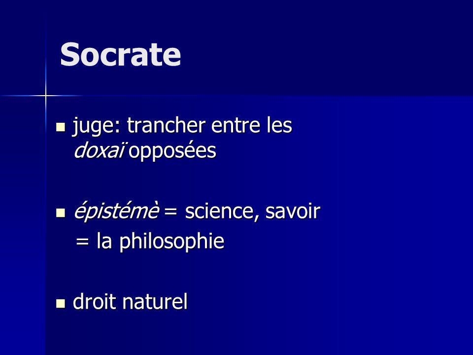 Socrate juge: trancher entre les doxaï opposées