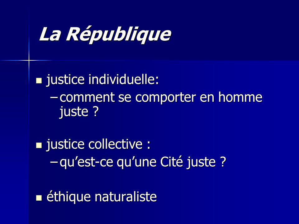 La République justice individuelle:
