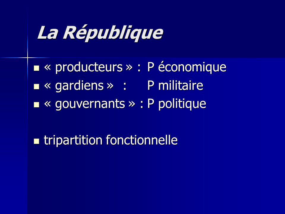 La République « producteurs » : P économique