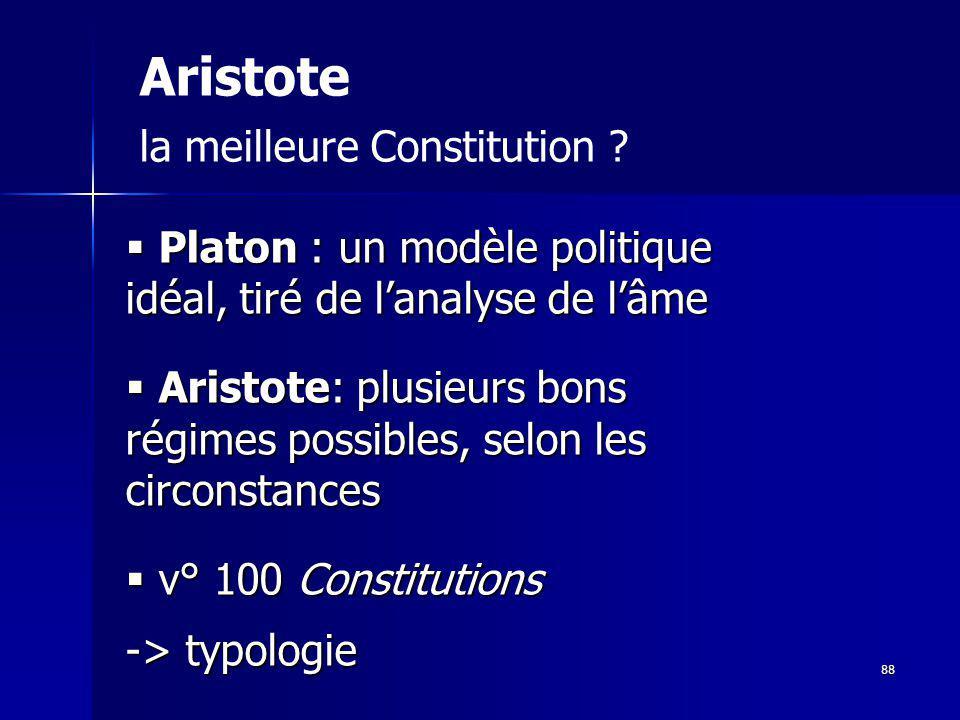 Aristote la meilleure Constitution