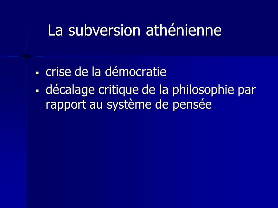 La subversion athénienne