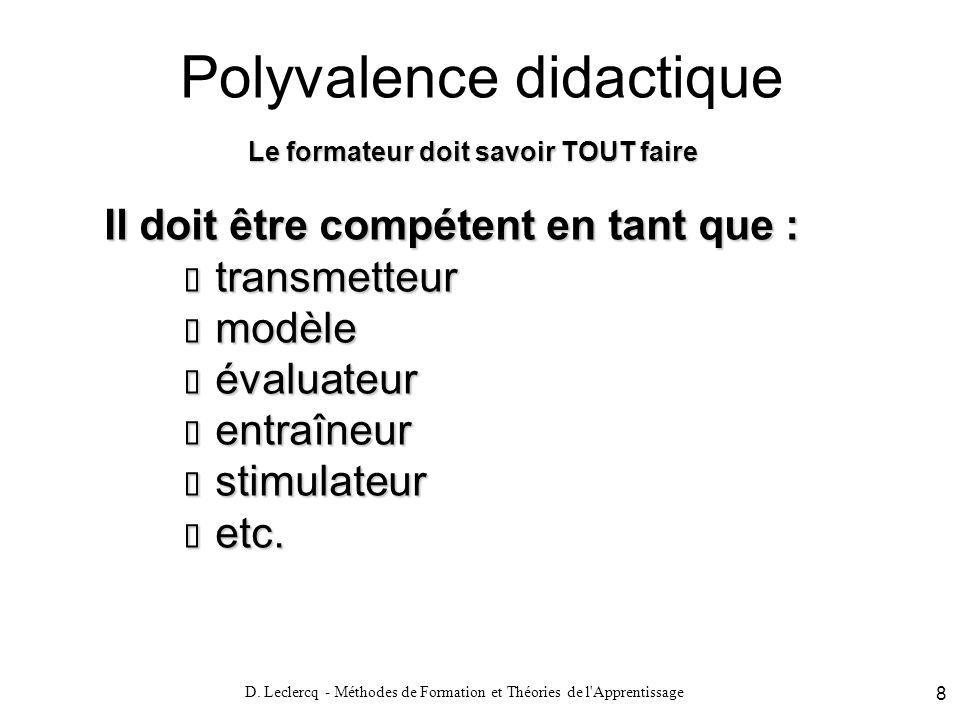 Polyvalence didactique