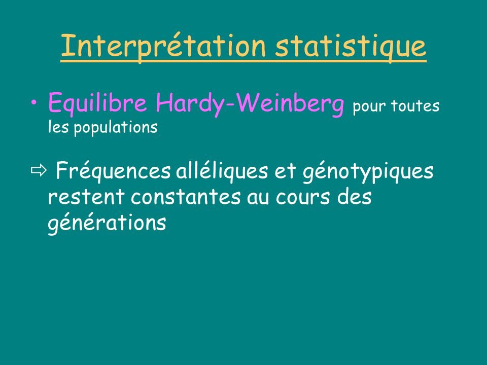 Interprétation statistique