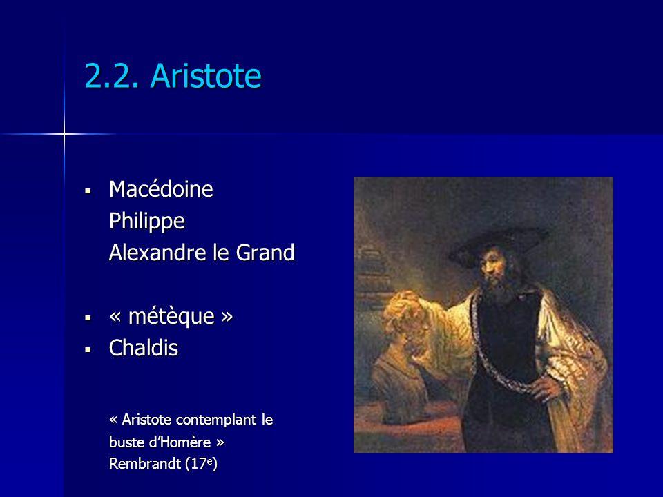 2.2. Aristote Macédoine Philippe Alexandre le Grand « métèque »