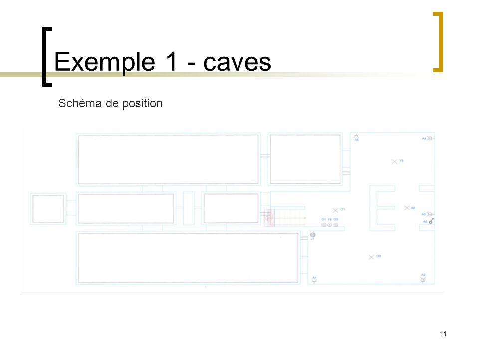 Exemple 1 - caves Schéma de position