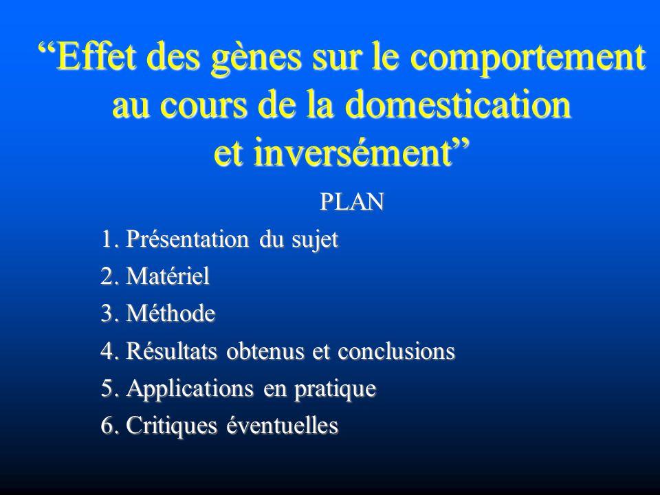 Effet des gènes sur le comportement au cours de la domestication et inversément