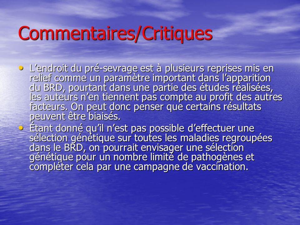 Commentaires/Critiques