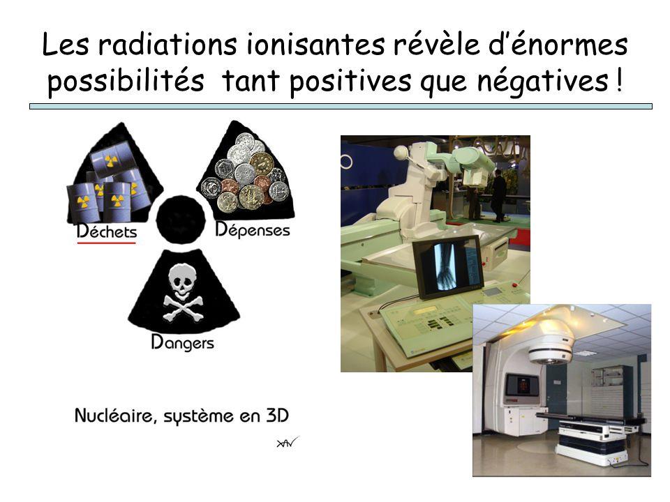 Les radiations ionisantes révèle d'énormes possibilités tant positives que négatives !