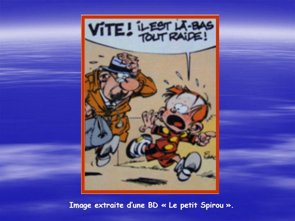 Image extraite d'une BD « Le petit Spirou ».