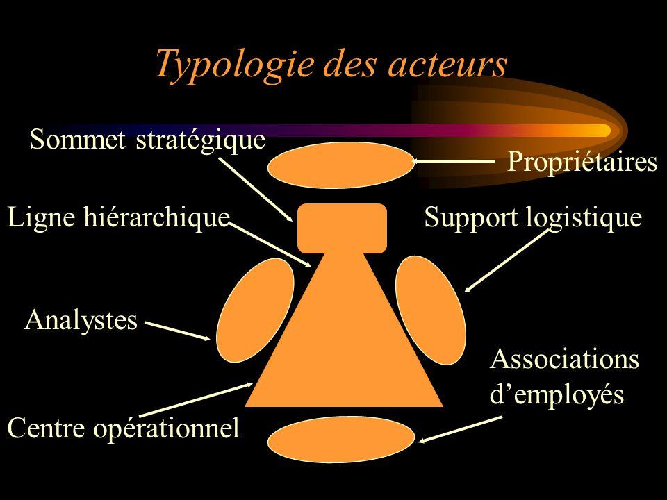 Typologie des acteurs Sommet stratégique Propriétaires