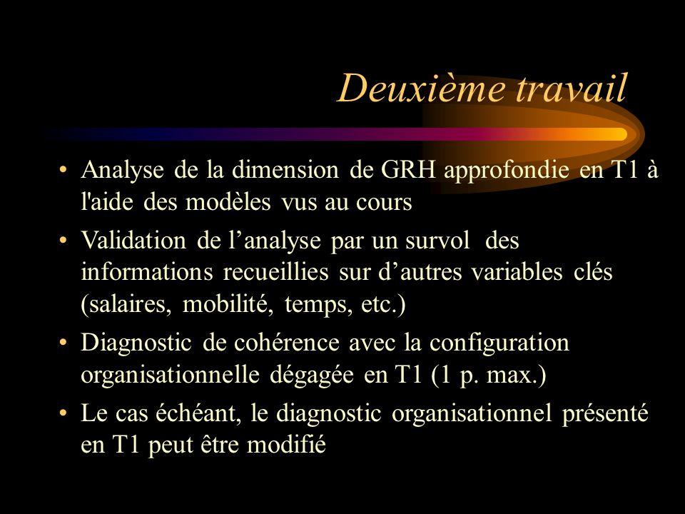Deuxième travail Analyse de la dimension de GRH approfondie en T1 à l aide des modèles vus au cours.
