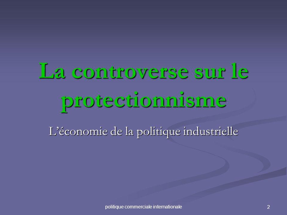 La controverse sur le protectionnisme