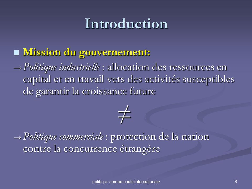 politique commerciale internationale