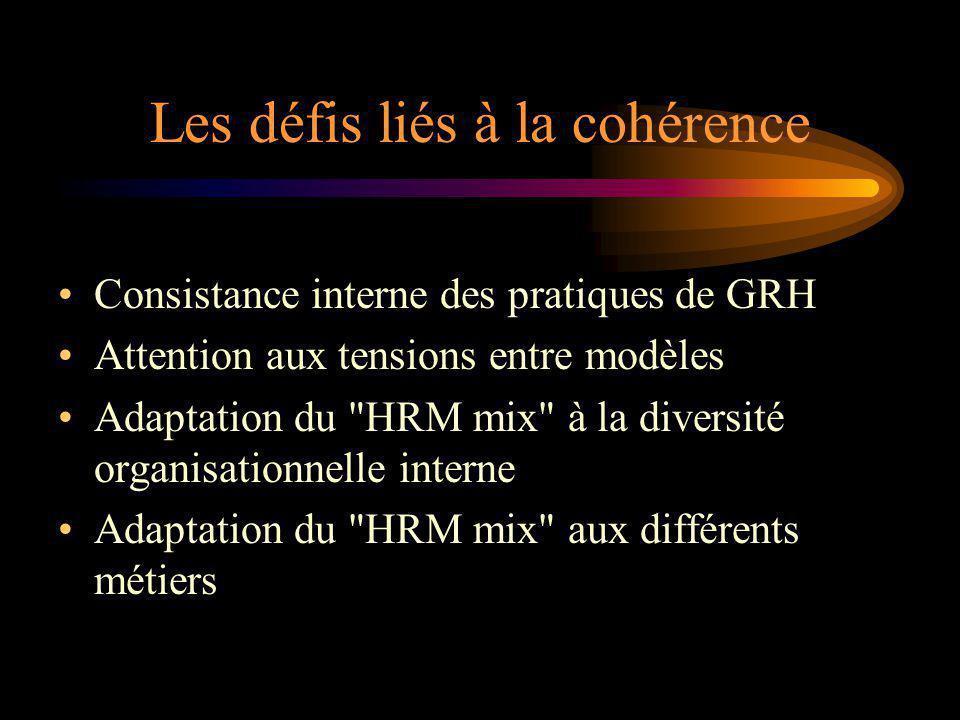 Les défis liés à la cohérence