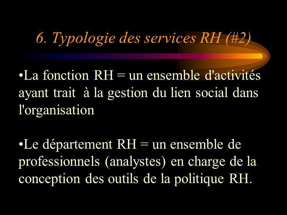 6. Typologie des services RH (#2)