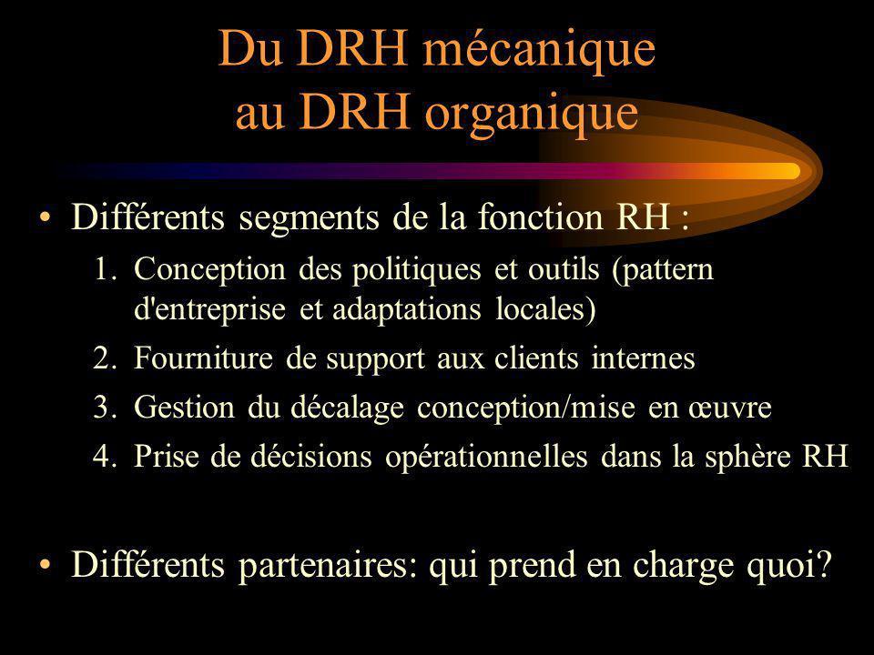 Du DRH mécanique au DRH organique