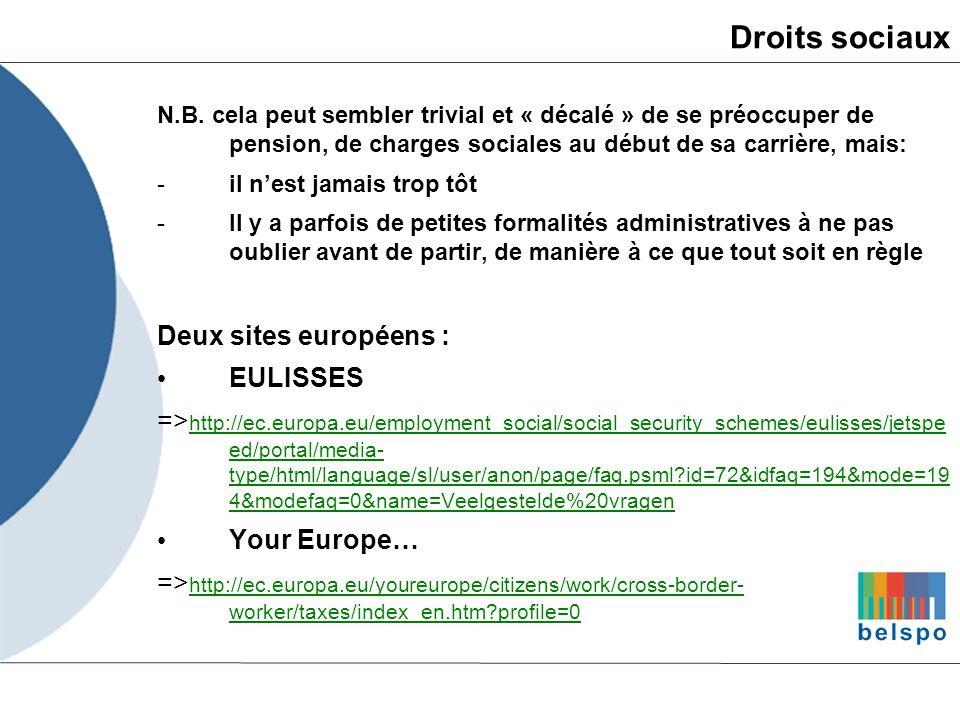Droits sociaux Deux sites européens : EULISSES