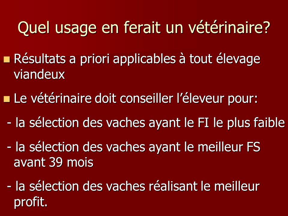 Quel usage en ferait un vétérinaire