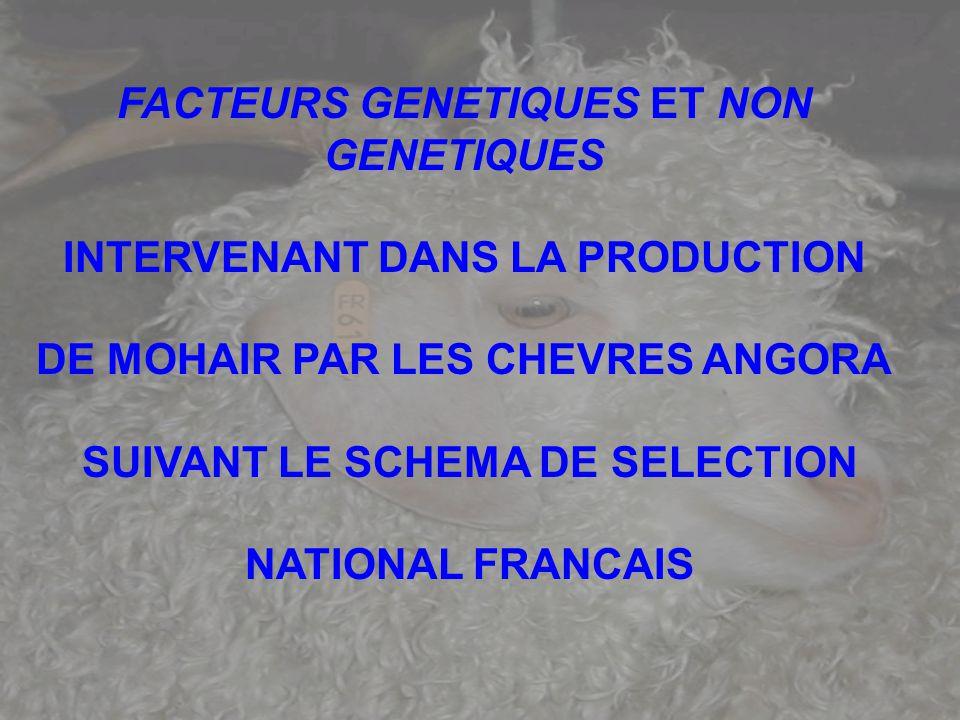 FACTEURS GENETIQUES ET NON GENETIQUES