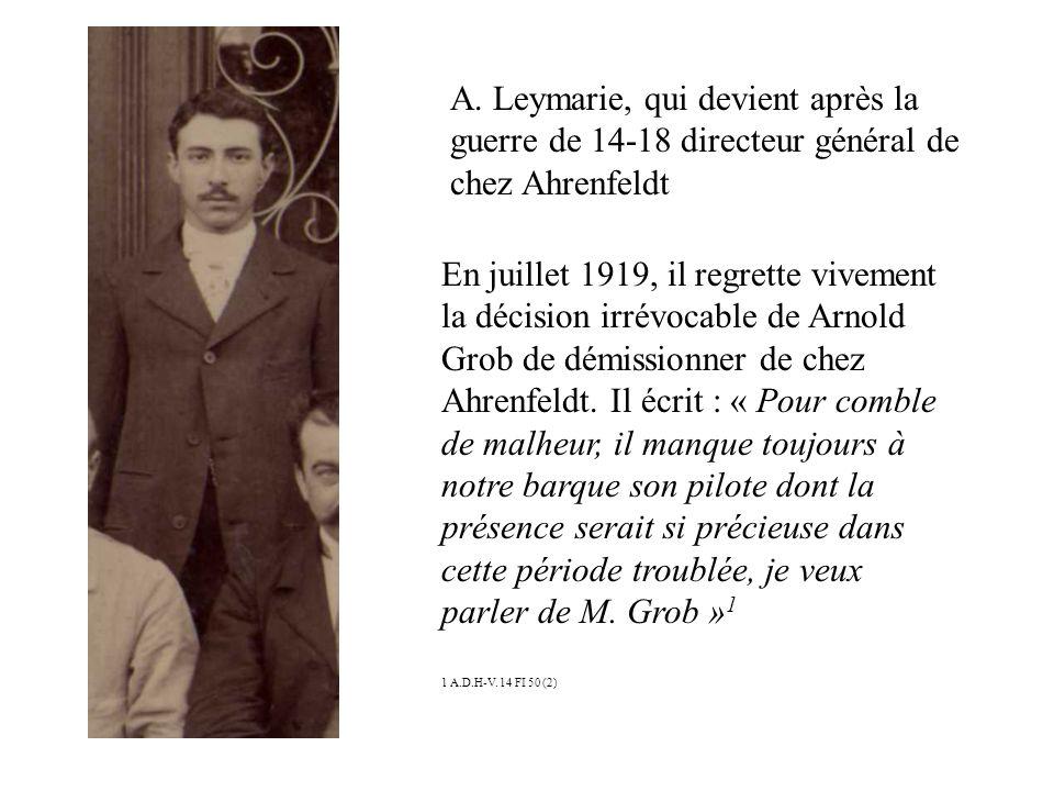 En 1903, il est directeur de Fabrique toujours chez Ahrenfeldt.