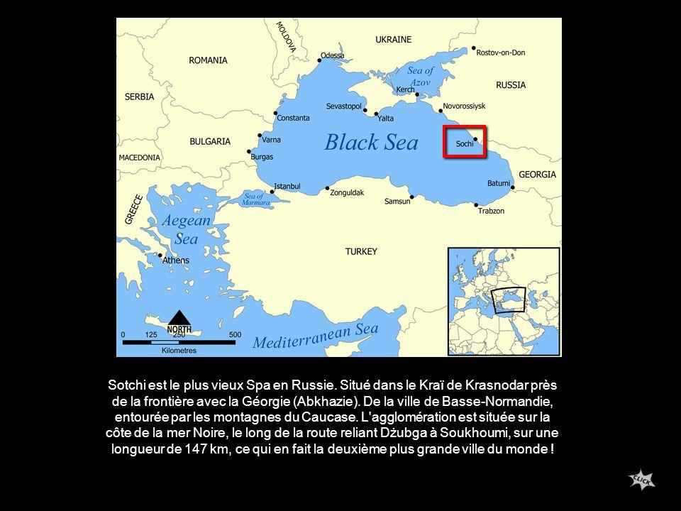 Sotchi est le plus vieux Spa en Russie