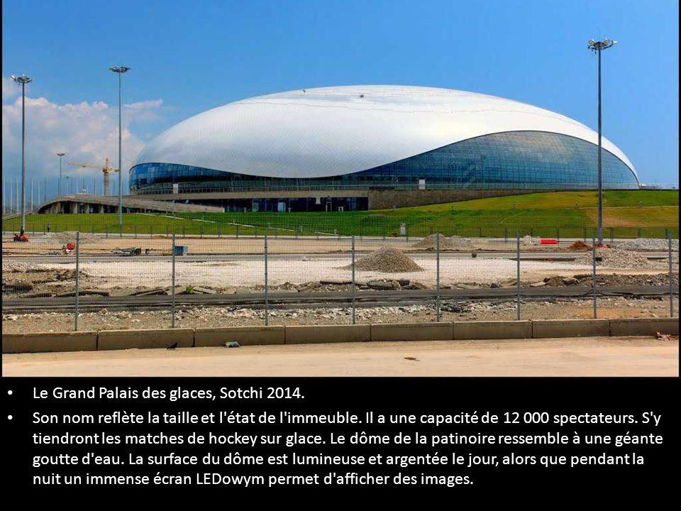 Le Grand Palais des glaces, Sotchi 2014.